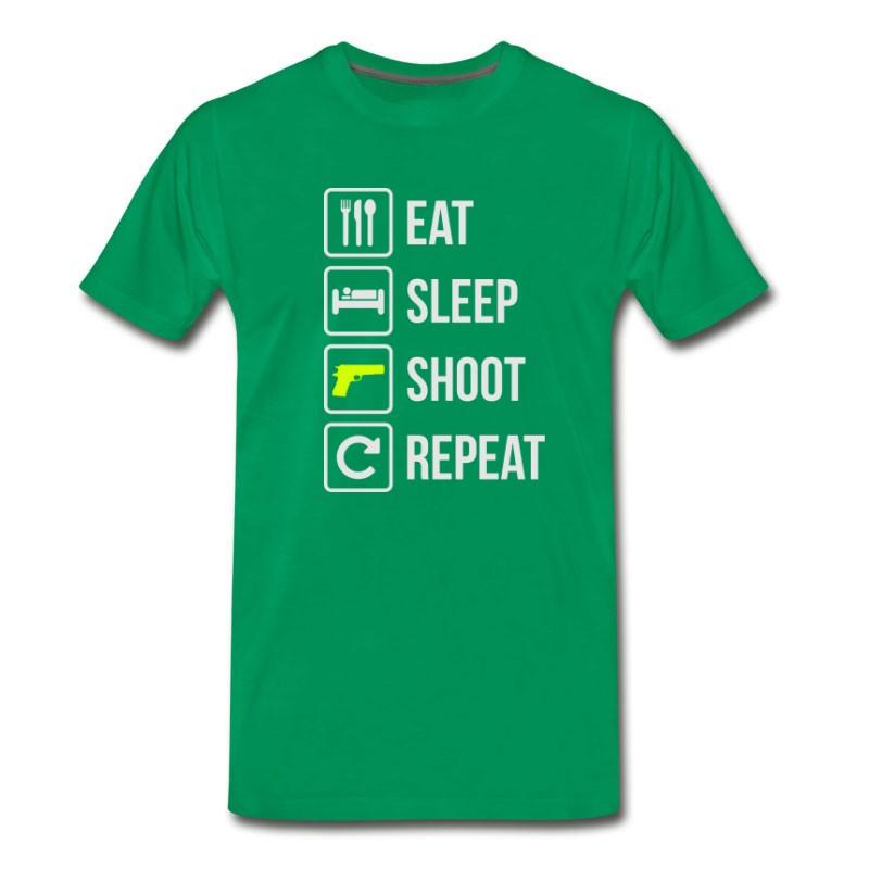 Men's Eat Sleep Shoot Repeat Guns T-Shirt