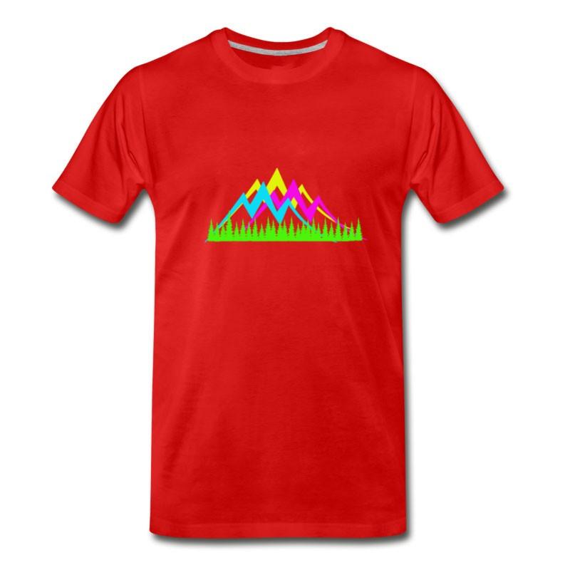 Men's Glowing Mountain T-Shirt