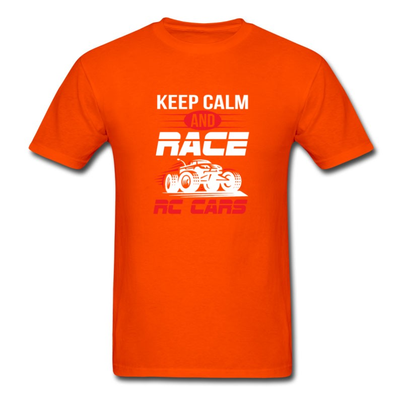 Men's Keep Calm And Race RC Car - Funny RC Car Shirt T-Shirt