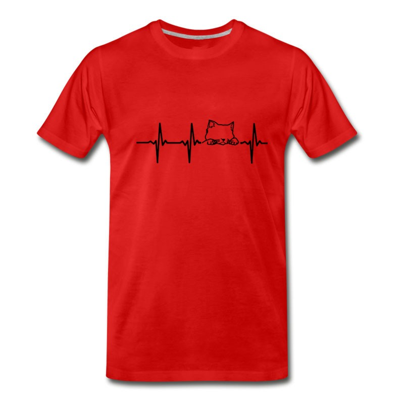 Men's MY HEART BEATS FOR CATS T-Shirt