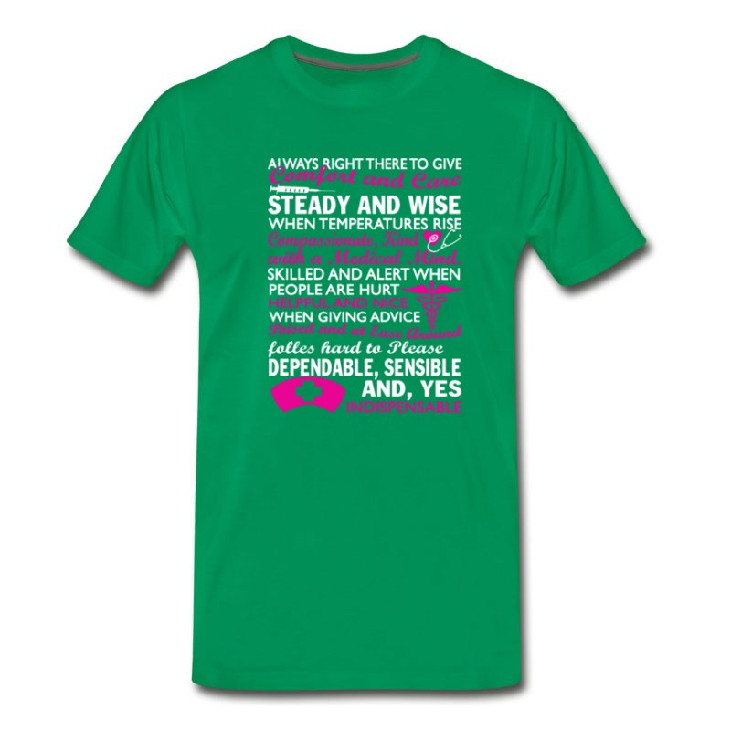 Men's Nurse - Always Right There To Give Awesome T - S T-Shirt