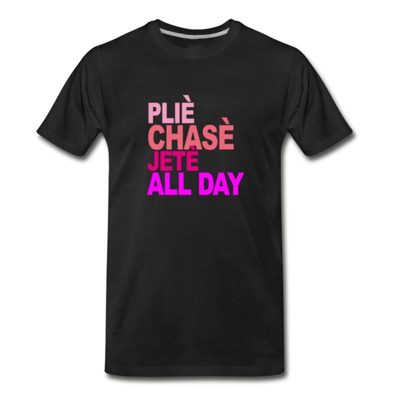 Men's Plie_chasse_jete_all_day_ballet_tshirt_b T-Shirt