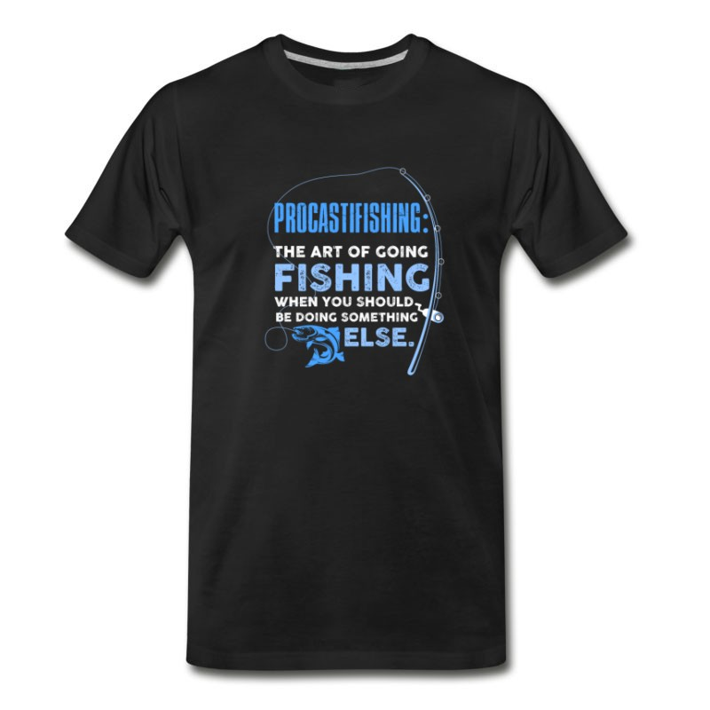 Men's Procastfishing The Art Of Fishing T-Shirt