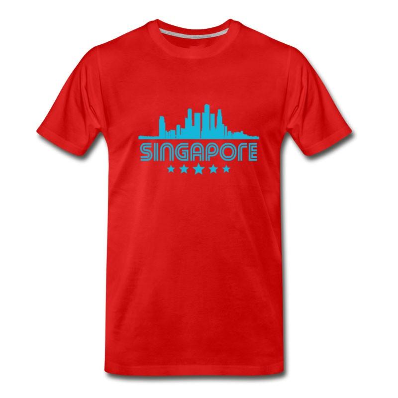 Men's Retro Singapore Skyline T-Shirt