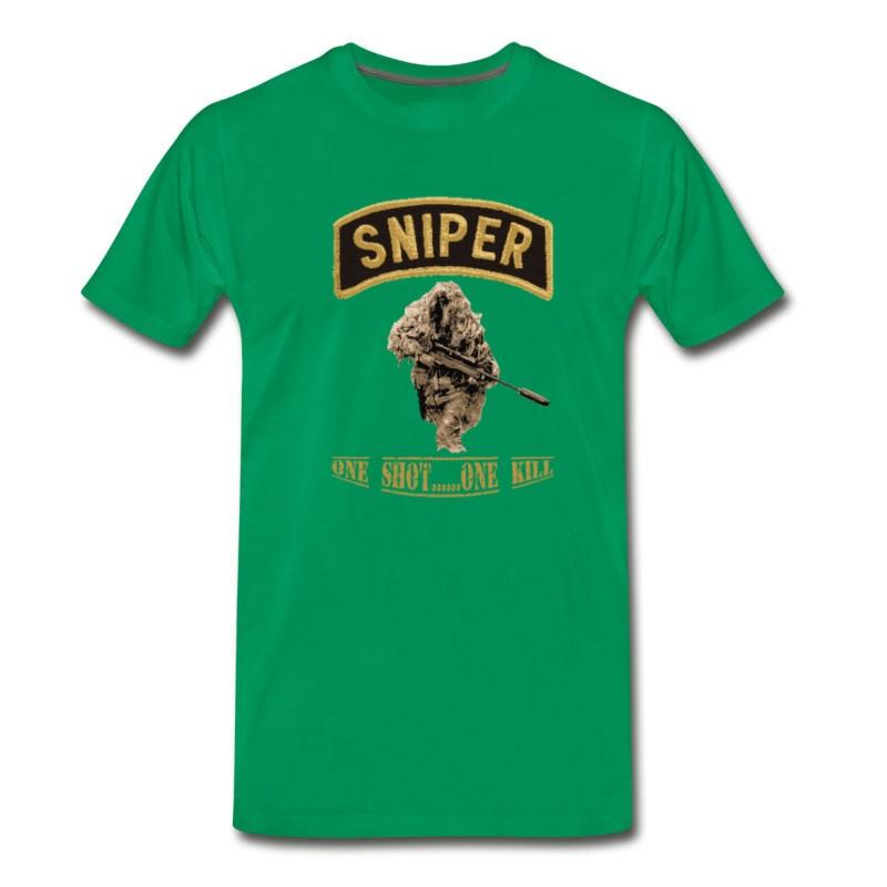 Men's Sniper - One Shot One Kill T-Shirt