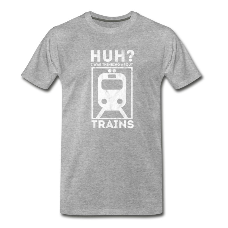 Men's Thinking About Trains - Shirt As Gift For Railway T-Shirt
